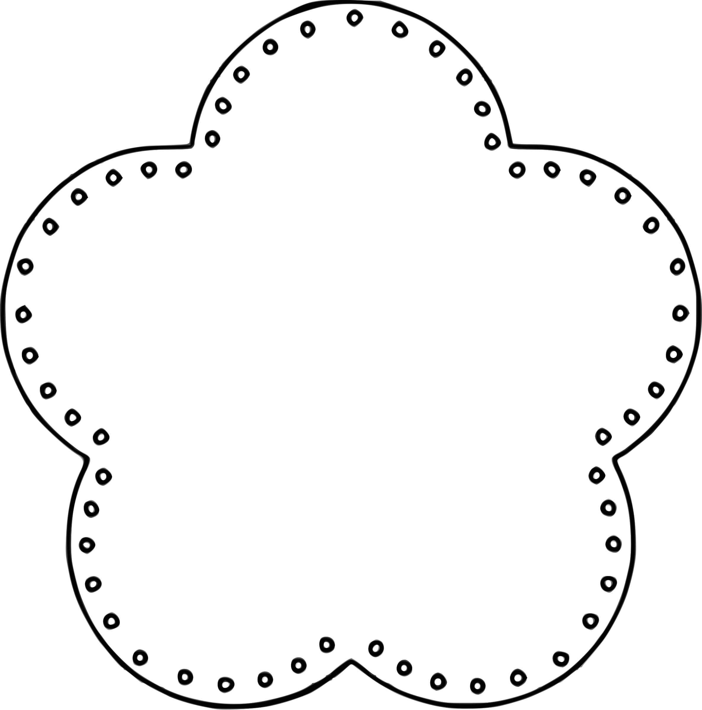 2374x2400 Circle Clipart Image 2