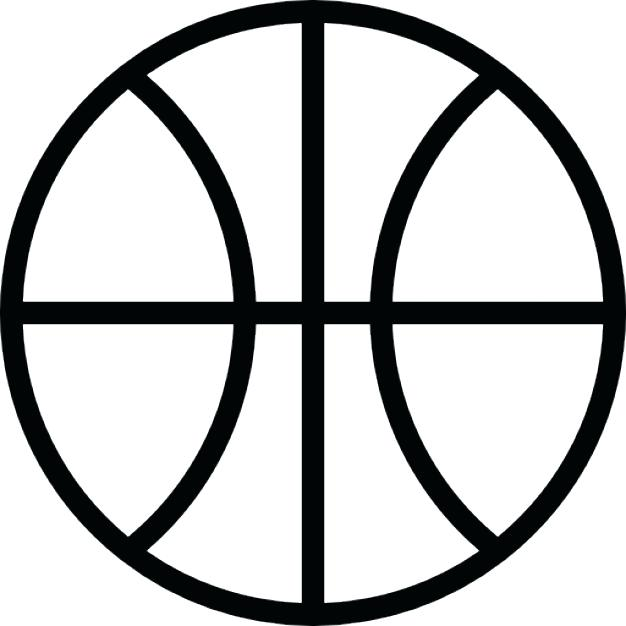 626x626 Clipart Basketball Free Basketball Clip Art Black And White