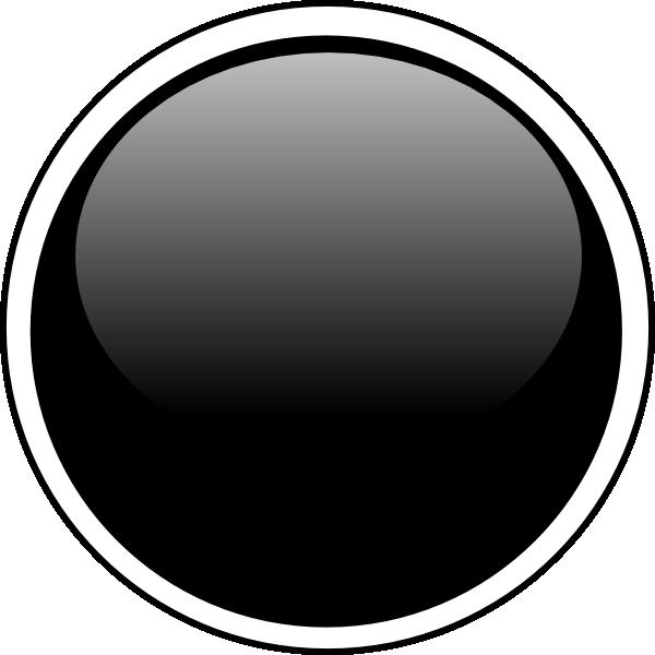 600x600 Glossy Black Circle Button Clip Art