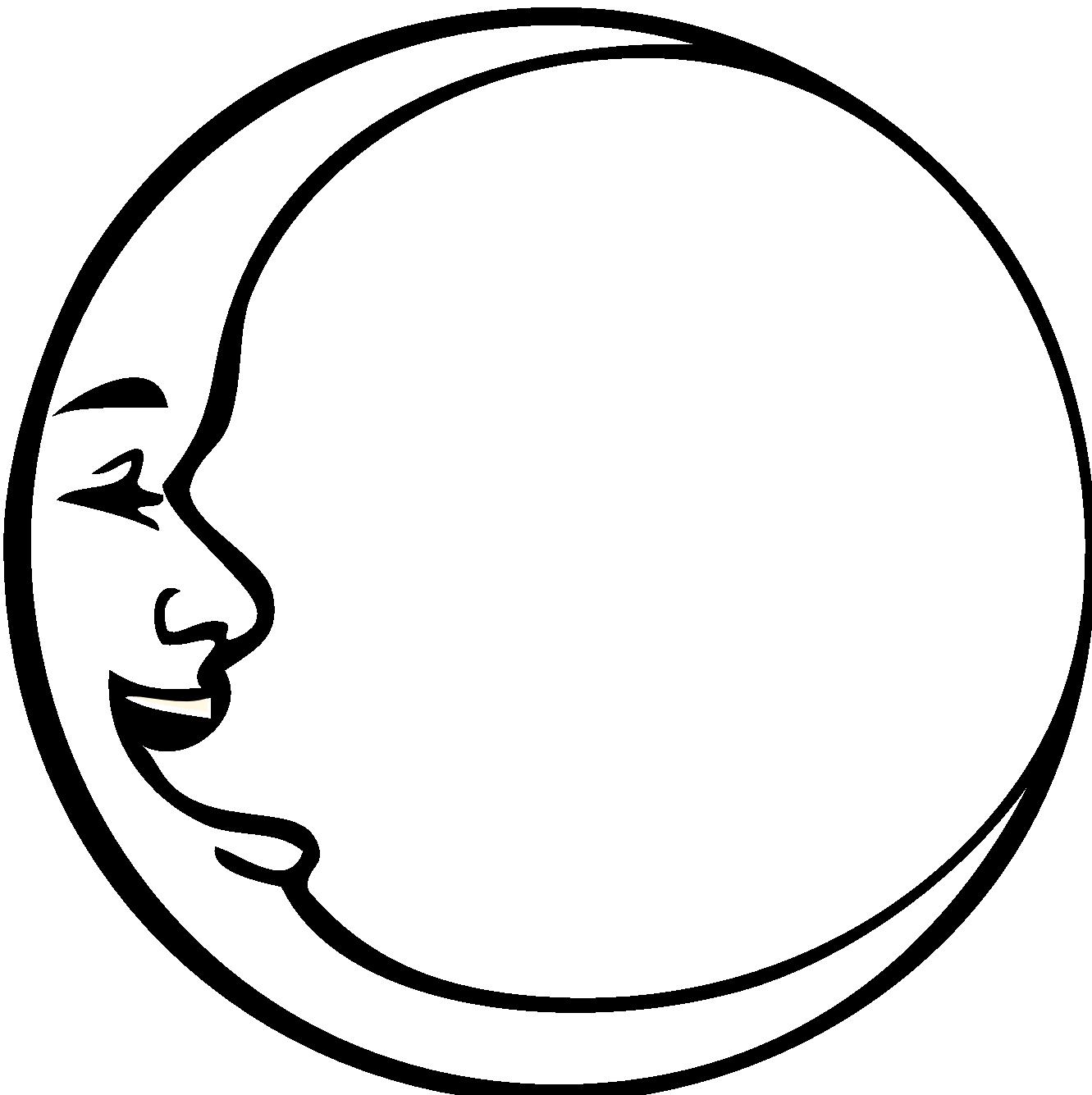 1331x1335 Lunar Clipart Black N White