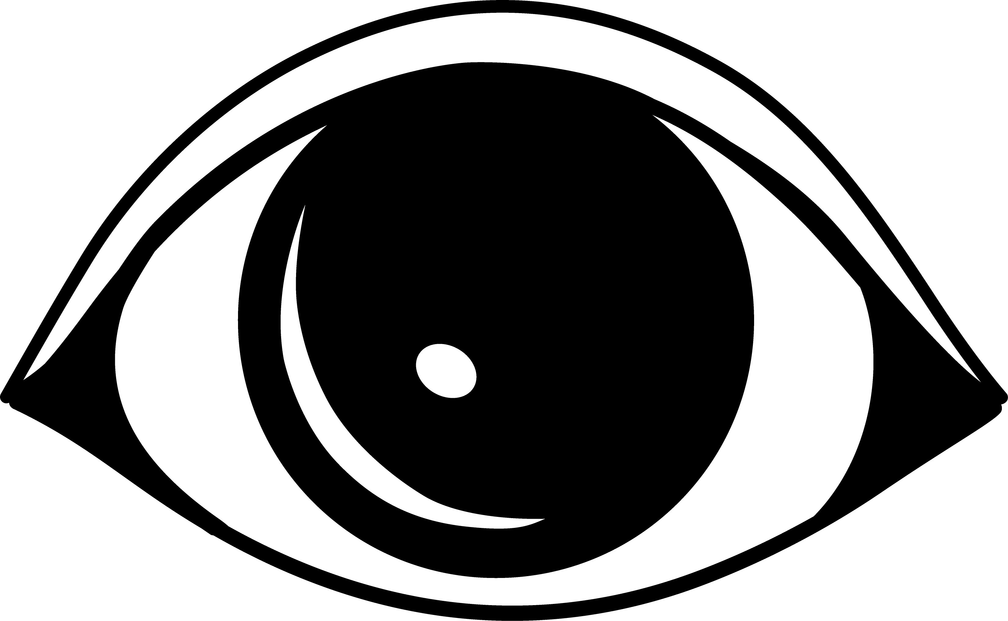 3299x2034 Simple Black Eye Logo Design