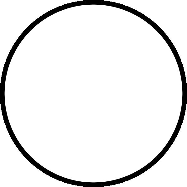 600x600 White Round Clip Art