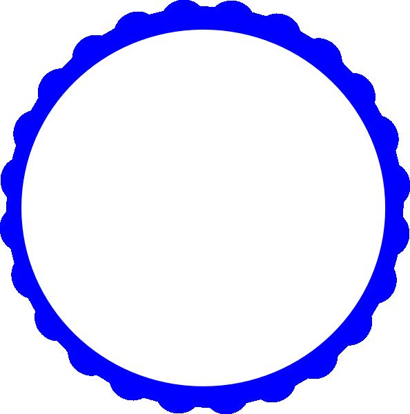 594x600 Blue Scallop Circle Frame Clip Art