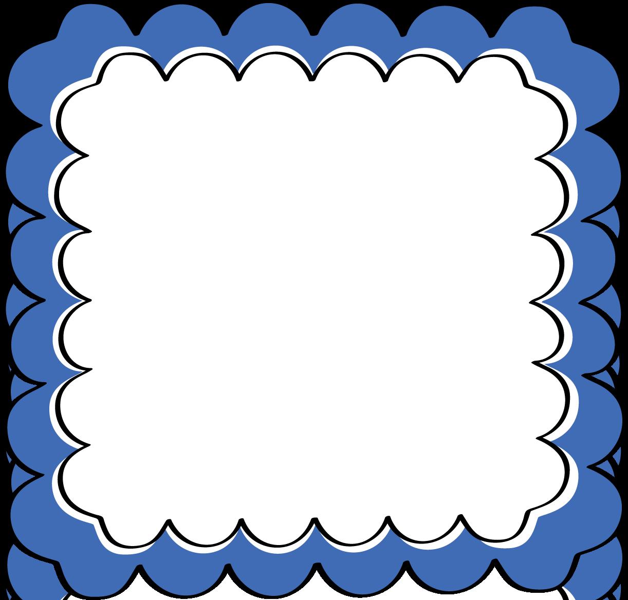 1222x1168 Blue Scalloped Frame
