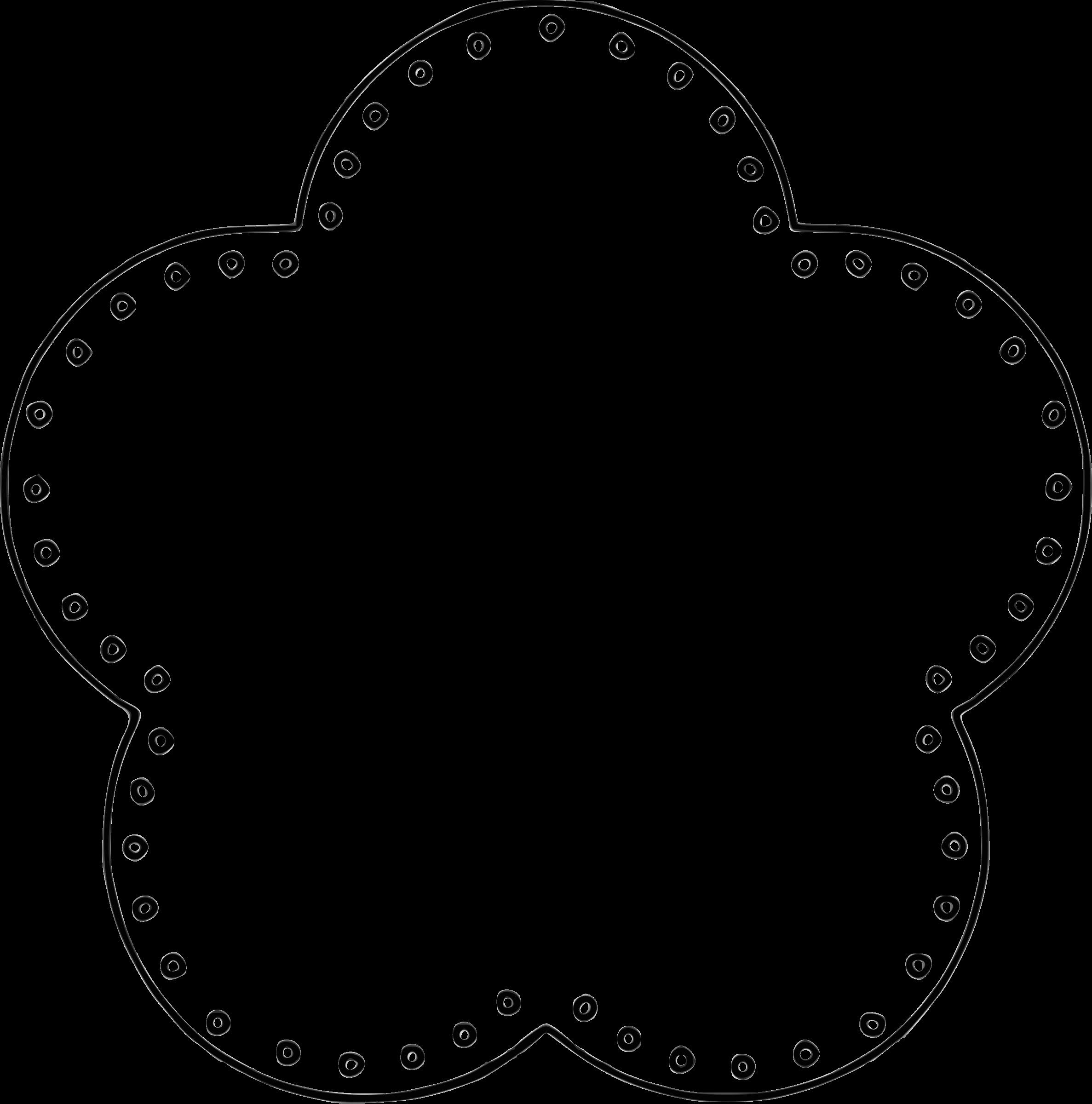 2374x2400 Circle Scalloped Border Clip Art Image