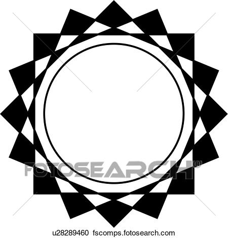 450x470 Clipart Of , Blank, Border, Circle, Fancy, Frame, Geometric