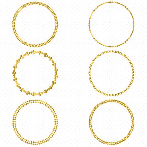 570x570 Gold Circle Frames, Circle Frame Clip Art, Round Frame Clip Art
