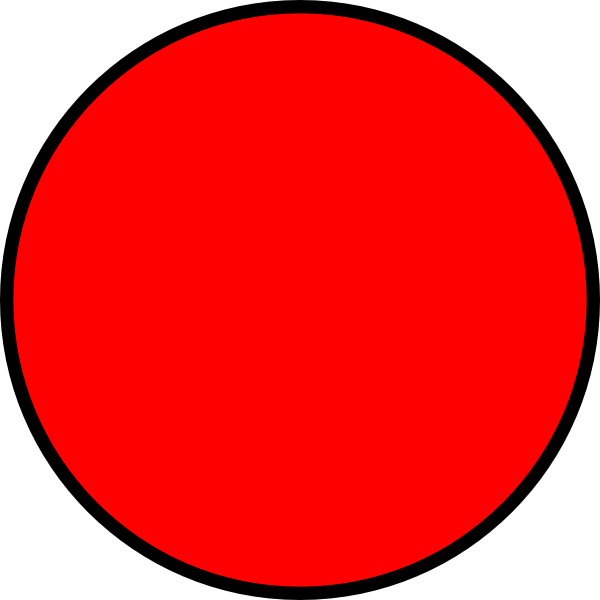 600x600 Red Circle Frame Clipart