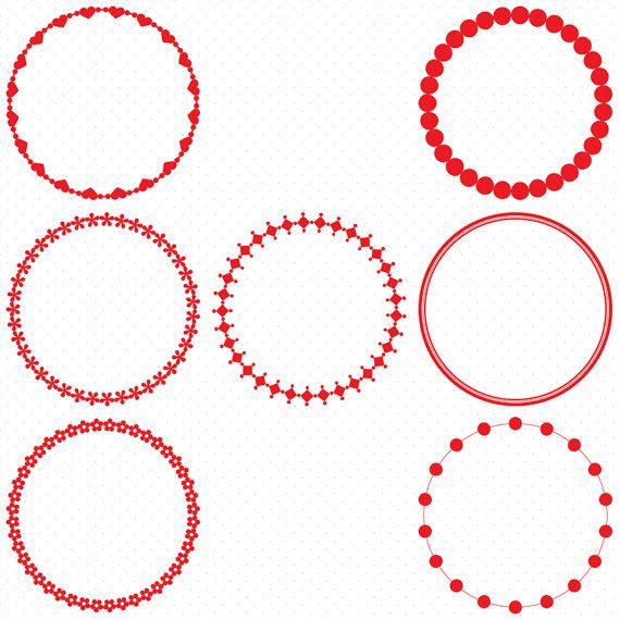 570x570 Red Circle Frames, Circle Frame Clip Art, Round Frame Clip Art