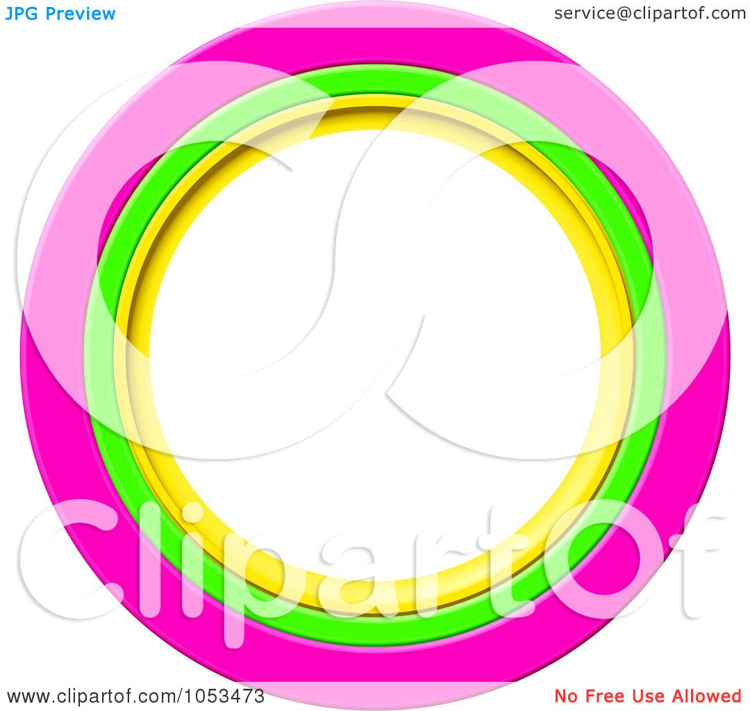 1080x1024 Royalty Free Clip Art Illustration Of A Round Pink, Green
