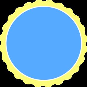 297x300 Yellow Amp Blue Scallop Circle Frame Clip Art