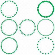236x236 25 Dark Green Circle Frames, Circle Frame Clip Art, Round Frame