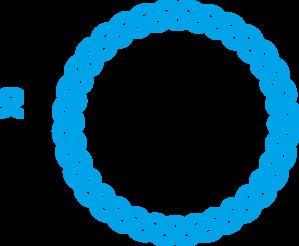 299x246 Blue Round Frame Clip Art