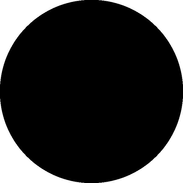 600x600 Black Circle Clipart