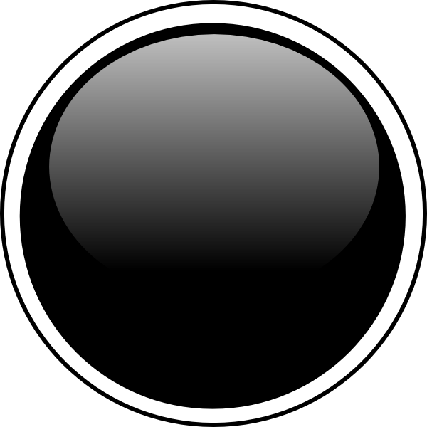 600x600 Glossy Black Circle Button Png, Svg Clip Art For Web