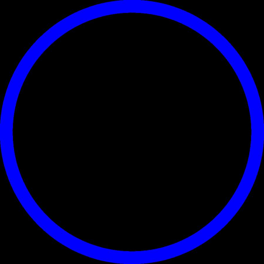 900x900 Blue Outline Circle Clipart