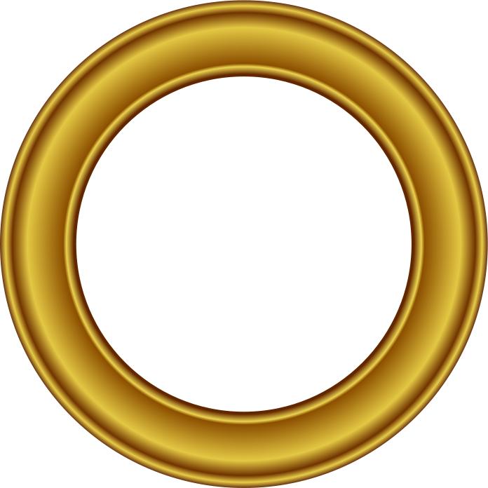 696x696 Gold Frame Circle 2
