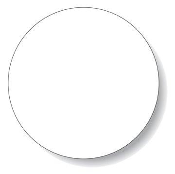 360x357 Circle (Round) Labels On Sheets