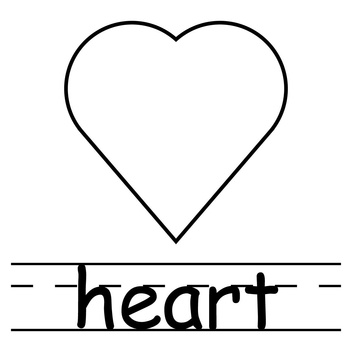 1200x1200 Clip Art Shapes Heart Bampw Clipart Panda