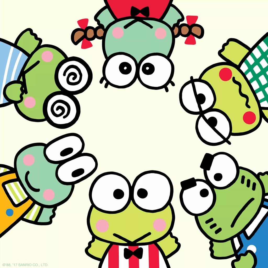 1024x1024 Keroppi, Kyorosuke, Noberun, Keroleen, Keroppe, And Ganta Are All