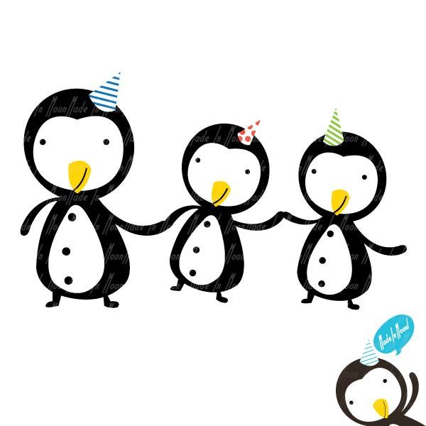 600x600 Penguin Friends Clip Art 01