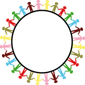 300x300 Circle Holding Hands Clip Art