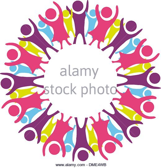 520x540 Circle Of Children Silhouette Stock Photos Amp Circle Of Children