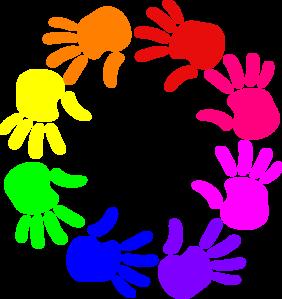 282x299 Circle Of Hands Clip Art
