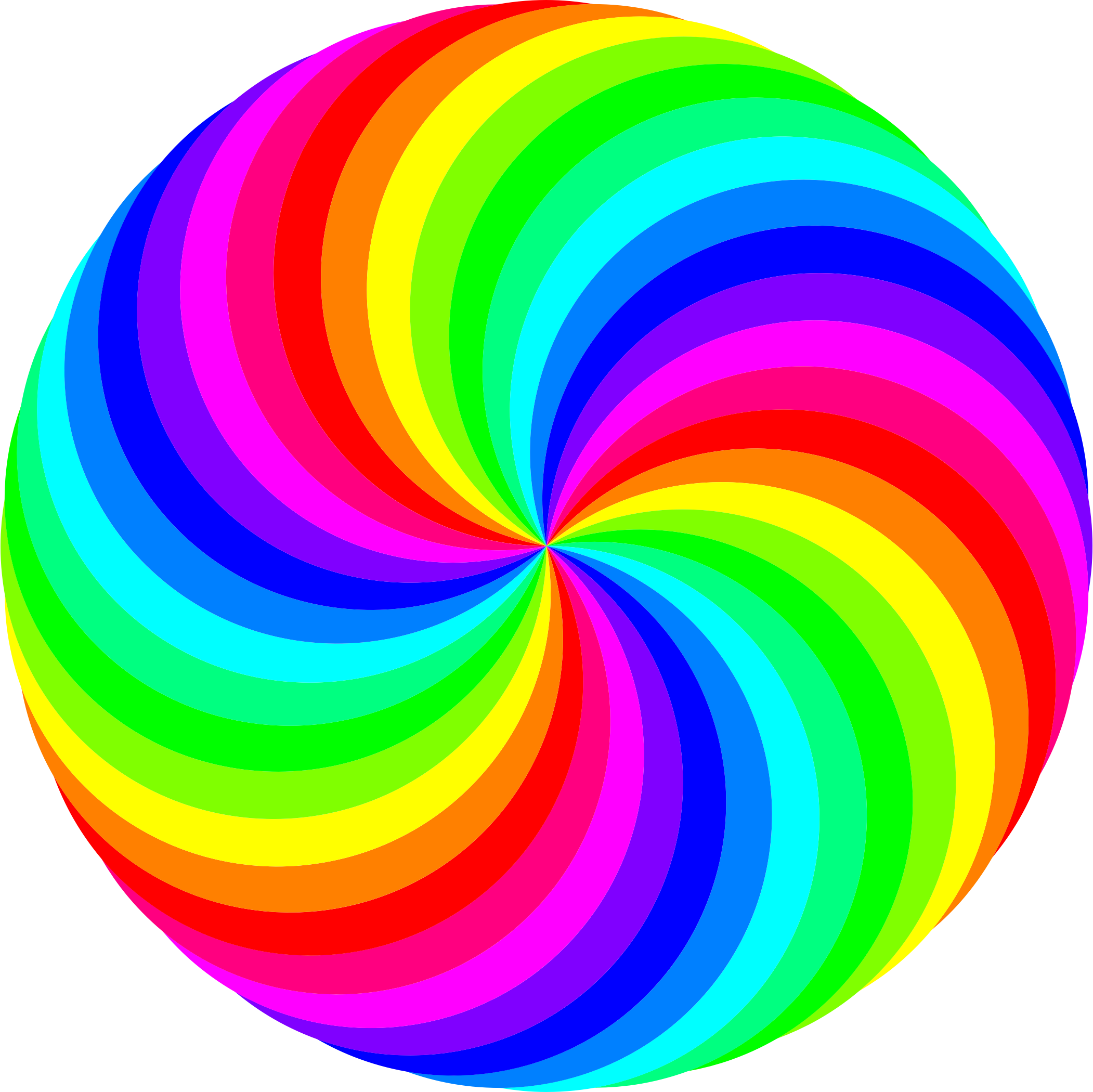 2102x2100 36 Circle Swirl 12 Color By @10binary, 36 Circle Swirl 12 Color