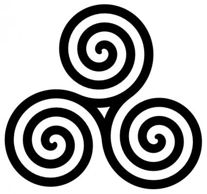 425x398 Circle Swirl Clipart