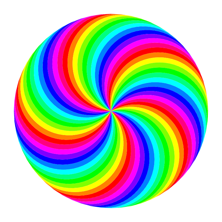 720x720 60 Circle Swirl 12 Color By 10binary