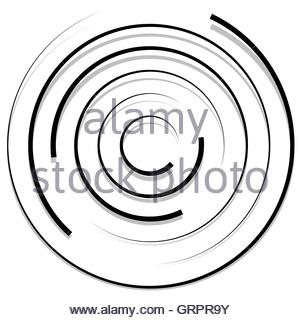 300x320 Concentric Random Circles With Dynamic Lines. Circular Spiral