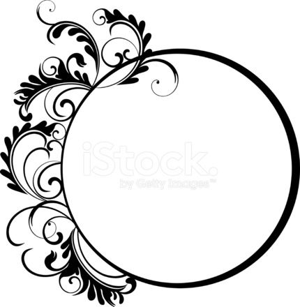 430x440 Deluxe Swirl Clipart Circle Floral Frame Vii Stock Vector