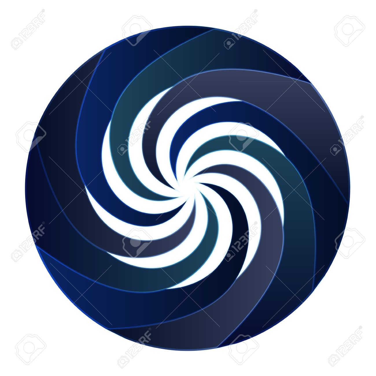 1300x1300 Isolated Blue Central Swirl Circle Illustration Royalty Free
