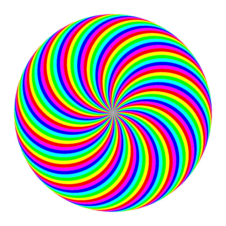 720x720 90 Circle Swirl 6 Color By 10binary
