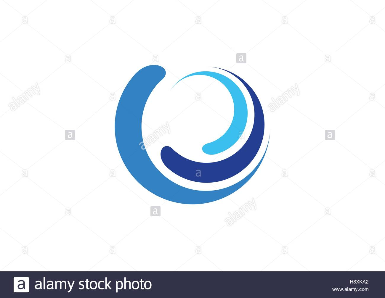 1300x1007 Circle Waves Logo, Sphere Blue Splash Water Symbol, Swirl Wind