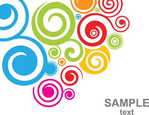 478x368 Abstract Colorful Swirl Circle Background Free Vector Download