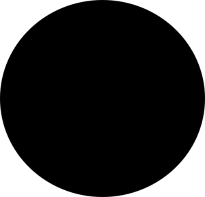 299x288 A Black Circle Clip Art