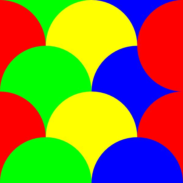 600x600 Circles 4 Pattern Clip Art Free Vector 4vector
