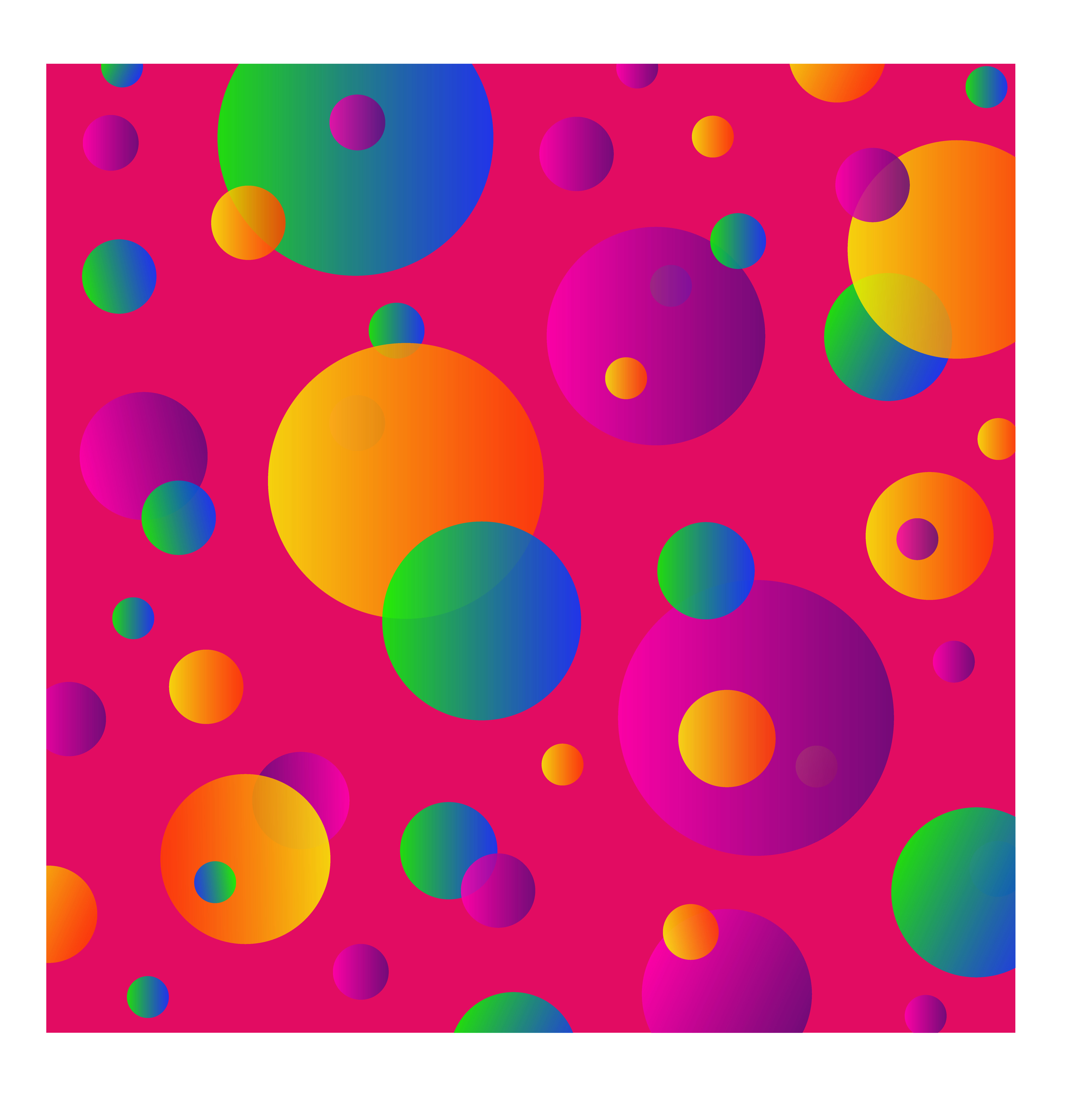 7072x7432 Colorful Circles Pattern On Pink