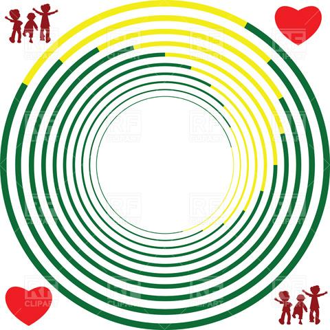 480x480 Abstract circles Royalty Free Vector Clip Art Image