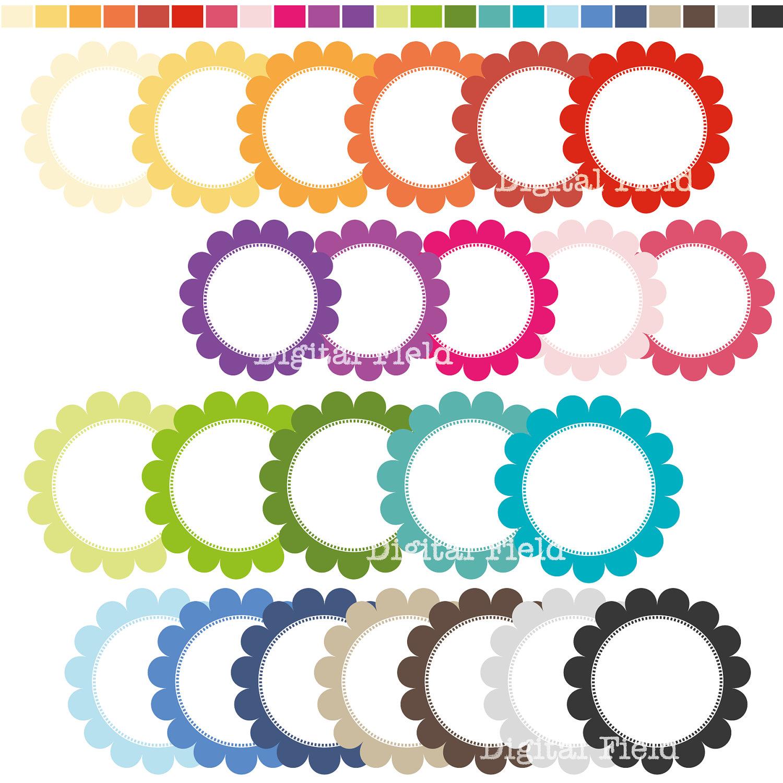 1500x1500 Free Scalloped Circle Clip Art