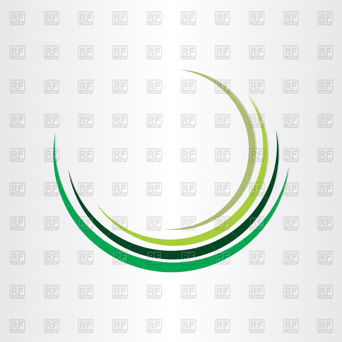 1200x1200 Green Half Circle Design Royalty Free Vector Clip Art Image