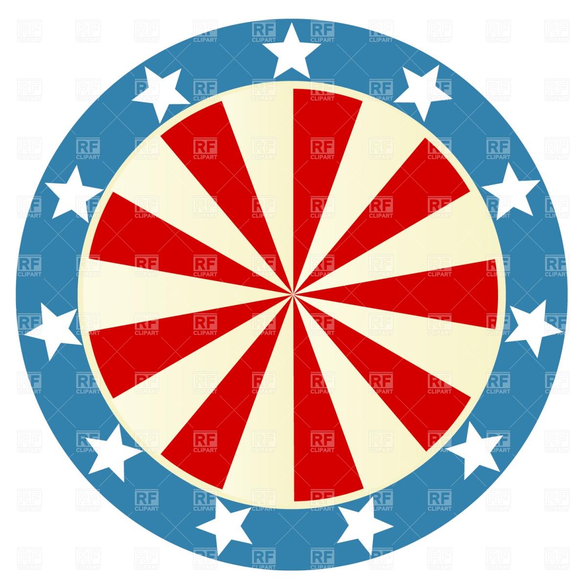 1200x1200 Patriotic Round Badge Royalty Free Vector Clip Art Image