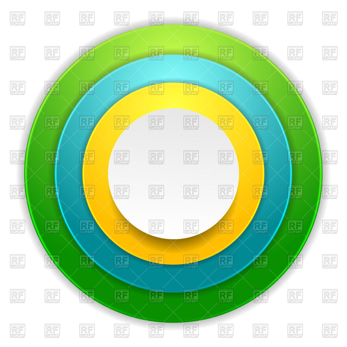 1200x1200 Bright colorful circles Royalty Free Vector Clip Art Image