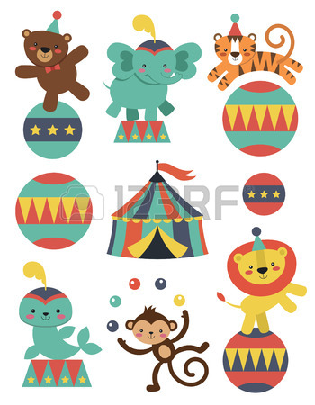 350x450 14,223 Circus Animals Stock Vector Illustration And Royalty Free