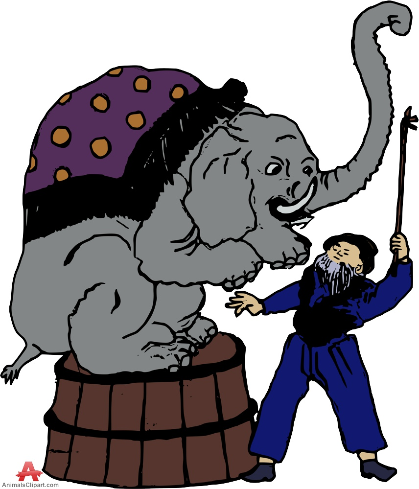 856x999 Elephant Training In Circus Free Clipart Design Download