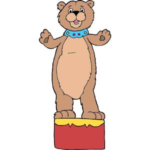 300x300 Brown Bear Clipart Circus Bear