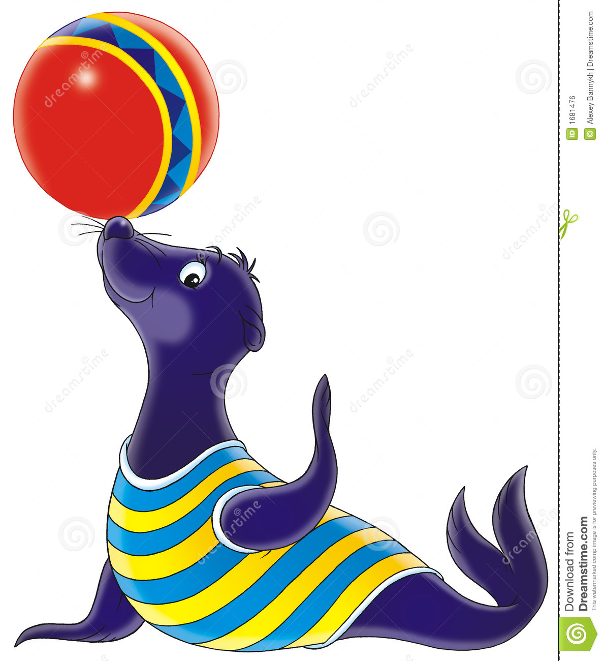 1189x1300 Circus Clipart Seal