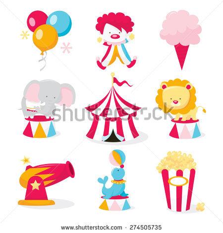 450x470 A Vector Illustration Set Of Cute Circus Theme Clip Arts Like